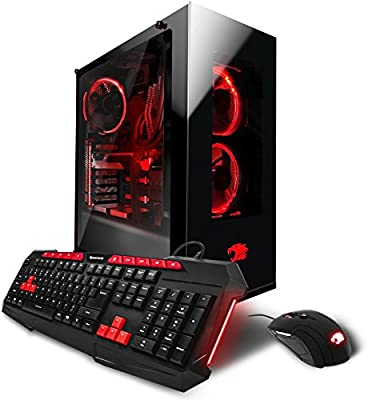 iBUYPOWER AM8160A Gaming Desktop PC - AMD Ryzen 7 1700 8-Core 3.0GHz, AMD RX 570 4GB, 16GB DDR4, 1TB 7200RPM HDD, 120GB SSD, Win 10 Home, Wifi, RGB Lighting