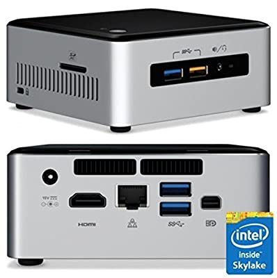 Intel Desktop/HTPC 6th Generation Intel Dual-Core i3 2.3GHz, 8GB DDR4, 120GB SSD, Wifi, Bluetooth, 4K Capable, Dual Monitor Capable, Windows 10 Professional 64Bit