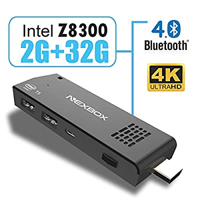 Intel Mini PC Dongle T5 Windows 10 OS Intel Z8300 Quad Core 1.84GHz 2G 32G 1080P Stick Computer Mult-languages with Wifi Bluetooth 4.0
