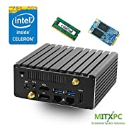 Jetway JBC313U591W Intel Celeron N3160 Dual LAN Fanless NUC /4GB,120GB mSATA SSD - Configured and Assembled by MITXPC