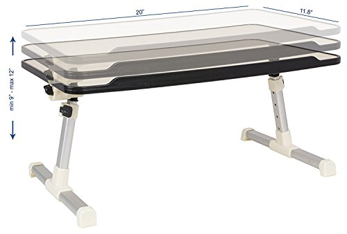 Get Jh Bestcrafts Adjustable Laptop Bed Tray Table