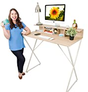 """Joy Desk by Stand Steady - Modern Home Office Standing Desk Workstation with Storage Cubbies! - 47.5"""" x 41.5"""""""