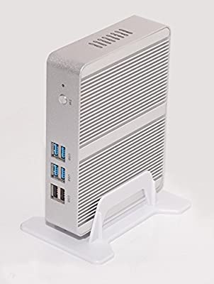 Kingdel Quad Core CPU Mini Desktop PC, Fanless HTPC with Intel Celeron N3150 CPU 2.08GHz, 4GB RAM, 64GB SSD+1TB HDD, 2LAN, 2HDMI, 4USB 3.0, Wi-Fi, Windows 10 Pro