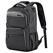 Laptop Backpack, BSISME Business Computer Bags with USB/Headphones Hole, Water Resistant College School Bookbag for Men Travel Backpack, Fits 15.6-Inch Laptop and Notebook