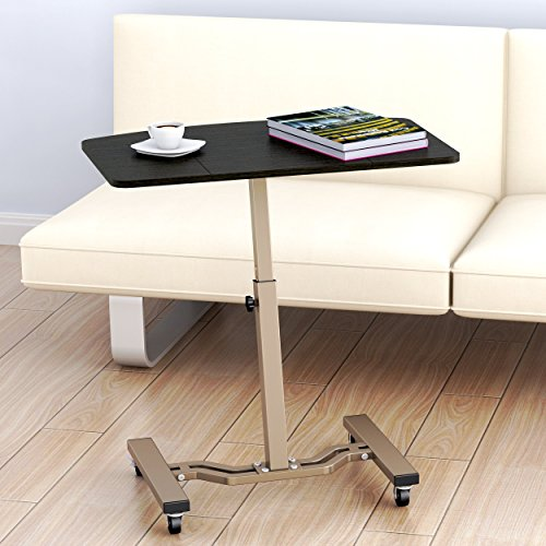 ... LeCrozz Height Adjustable Mobile Laptop Stand Desk Rolling Cart