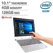 Lenovo Miix 10.1'' 320 2-in-1 Laptop - Intel Atom x5-Z8350 Processor at 1.44GHz - 4GB LPDDR3 RAM - 128GB Embedded MultiMedia Card - Microsoft Windows 10 Home (64 bit)