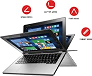 "Lenovo Yoga 2 11.6"" Convertible 2-in-1 Touchscreen Laptop (2017 Newest Model), Intel Core i3-4012Y Processor, 4GB RAM, 500GB HDD, WiFi, Webcam, HDMI, Bluetooth, No DVD, Windows 10"