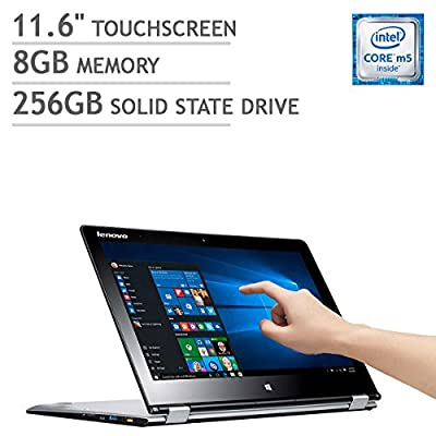 "Lenovo Yoga 700 2-in-1 11.6"" Touchscreen Laptop Core M5-6Y54 8GB 256GB SSD 1080p 80QE004YUS"