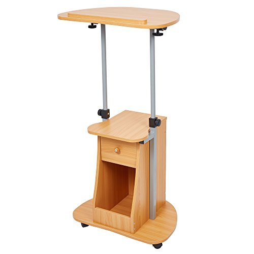 Buy Lucky Tree Sit To Stand Laptop Desk With Wheels Height