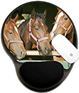 Luxlady Mousepad wrist protected Mouse Pads/Mat with wrist support design IMAGE ID: 32895603 Young thoroughbred horses standing in the stable door Young thoroughbred horses standing in th