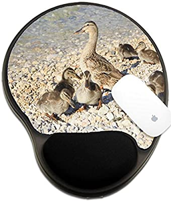 Luxlady Mousepad wrist protected Mouse Pads/Mat with wrist support design IMAGE ID: 34531239 Duck Group Mallard Ducks at Lake Garda