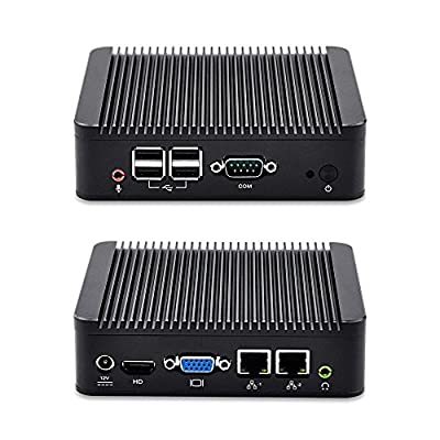 Micro Pc Qotom-Q107S Intel Celeron 1007U,1.5Ghz, 8G Ram 32G Ssd No Wifi Small,Black,Vga,2Lan,4Usb,X86 Windows Os