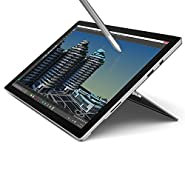 "Microsoft Surface Pro 4 12.3"" Flagship High Performance Tablet (Intel Core i5, 4GB RAM, 128GB SSD, Bluetooth, Windows 10 Pro), Silver"