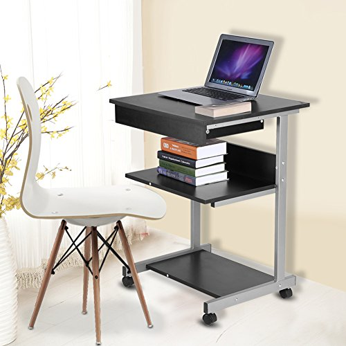 Simple Modern Office Desk Portable Computer Desk Home: Buy Mobile Computer Desk, Portable Modern Wooden Rolling