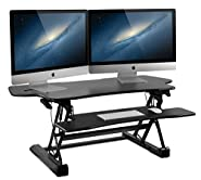 "Mount-It! Height Adjustable Standing Desk Converter | 48"" Wide Desktop 