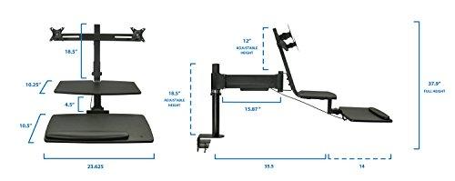 get mount it sit stand desk converter with dual monitor mounts standing desk workstation mi. Black Bedroom Furniture Sets. Home Design Ideas