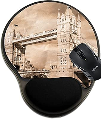 MSD Mousepad wrist protected Mouse Pads/Mat with wrist support design 24526887 Vintage view of London Tower Bridge