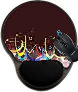 MSD Mousepad wrist protected Mouse Pads/Mat with wrist support wine card background drink glass1 Image 15497371 Customized Tablemats Stain Resistance Collector Kit Kitchen Table Top DeskDrink Customi