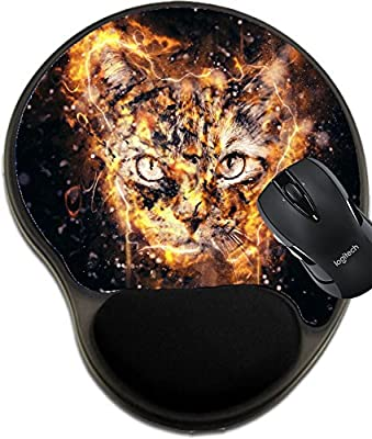 MSD Natural Rubber Mousepad wrist protected Mouse Pads/Mat with wrist support design 36820599 Stray cat conceptual portrait with selective focus and shallow depth of field