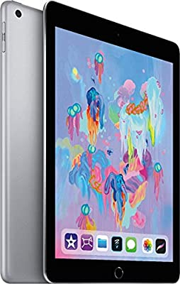 New Apple iPad 128GB with Wi-Fi 2018 Model 9.7 Inch Retina Display A10 Fusion chip 2GB RAM Touch ID Apple Pay Night Shift HD Camera Two Speaker Audio Apple Pencil Supported- Space Gray/Gold/ Silver