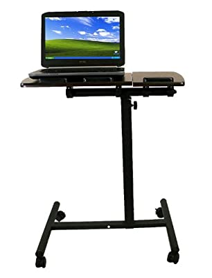 New Mobile Rolling Laptop Computer Notebook Portable Table Cart Stand Desk