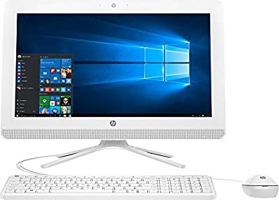Newest HP 20 All-In-One AIO Desktop Computer (19.5 Inch HD+ LED, AMD Quad-Core 1.8GHz CPU, 4GB DDR3 Memory, 1TB HDD, DVD RW, USB3.0, Wifi, Bluetooth, Windows 10, White (Certified Refurbishd)