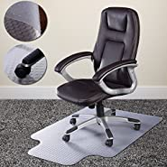 "Noa Store 36""x48"" PVC Home Office Chair Floor Mat Studded Back with Lip for Standard Pile Carpet"