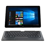 NUVISION 10.1-inch IPS Touchscreen 2-in-1 Tablet PC Windows 10,Intel Atom Cherry Trail X5-Z8300 Processor-1.84GHz,32GB with Wifi Bluetooth and Camera, includes Magnetic keyboard