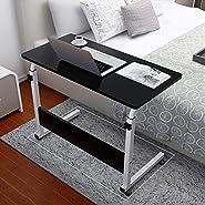 Portable Mobile Computer Desk Adjustable Foldable Workstation Home Office Sofa Side Table for Studying Reading Breakfast
