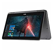 "Premium High Performance Dell Inspiron 11.6"" Touchscreen 2 in 1 Laptop PC Intel Pentium N3710 Quad-Core Processor 4GB RAM 500GB HDD Wifi HDMI Bluetooth Webcam Windows 10-Gray"