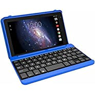 "Premium High Performance RCA Voyager Pro 7"" 16GB Touchscreen Tablet With Keyboard Case Computer Quad-Core 1.2Ghz Processor 1G Memory 16GB Hard Drive Webcam Wifi Bluetooth Android 6.0-Blue"