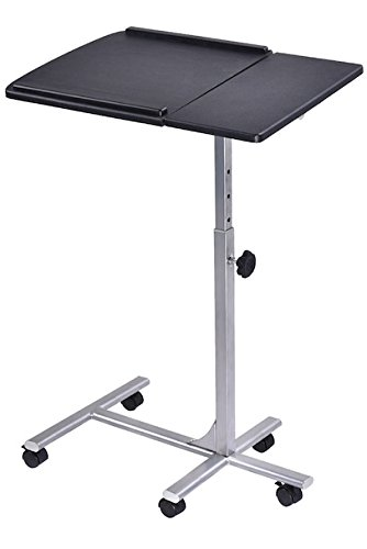 Rolling Laptop Not Desktop Lap Desk Tilting Tabletop Stand