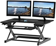 SHW Height Adjustable Tabletop Standing Desk, 32 x 22 inches