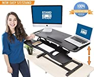 "Stand Steady FlexPro Hero 37"" - Two Level Standing Desk -Easily Sit or Stand in Seconds! Large Work Space w/ Extra Level for Keyboard & Mouse! Instantly Convert Any Surface to a Stand Up Desk"