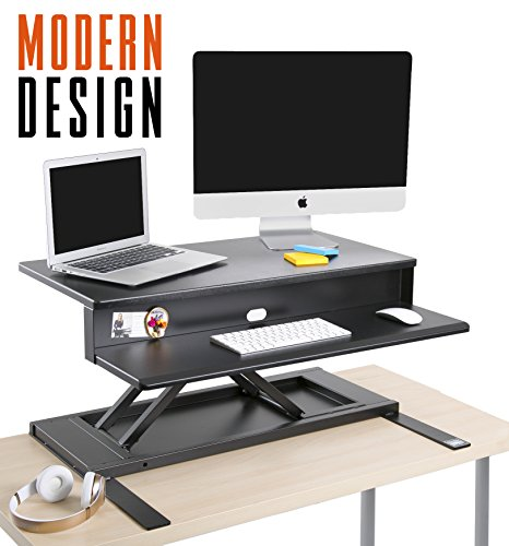 Buy Stand Steady Standing Desk Precision Desk Converter W