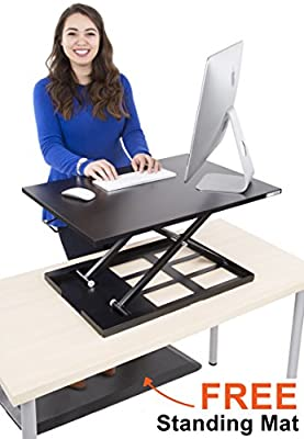 Stand Steady Standing Desk X-Elite Standing Desk   X-Elite Pro Version, Instantly Convert Any Desk into a Sit/Stand up Desk, Height-Adjustable,