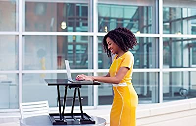 Standing Desk X-Elite - Stand Steady Standing Desk | X-Elite Pro Version, Instantly Convert Any Desk into a Sit / Stand up Desk, Height-Adjustable, Fully Assembled Desk Converter