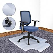 """Timmart Office Chair Mat Hard Floors PVC Clear Floor Protection Mats 48""""x36"""" for Home Office Desk Chairs"""