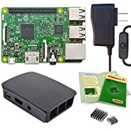 Viaboot Raspberry Pi 3 Power Kit — UL Listed 2.5A Power Supply, Official Black/Gray Case Edition