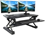 VIVO Deluxe Height Adjustable Standing Desk Table Top Monitor Sit to Stand Laptop Riser Platform