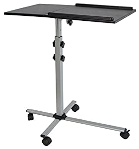 VIVO Projector & Laptop Adjustable Trolley Presentation Cart / Mobile Projection Stand (CART-V01L)