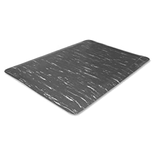 Wholesale CASE of 2 - Genuine Joe Marble Top Anti-fatigue Mats-Anti-Fatigue Mat, 3'x5', Gray Marble