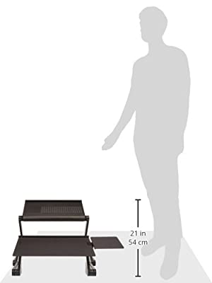 Workez Standing Desk Conversion Kit - Adjustable Sit to Stand Desk for Laptops & Desktops